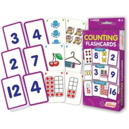 Junior Learning Counting Flashcards, Animals, Objects and Ten-Frames