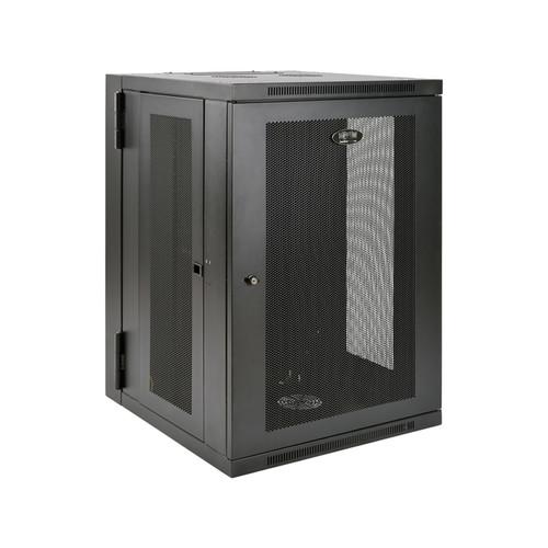 Tripp Lite SmartRack 18U UPS-Depth Wall-Mount Rack Enclosure Cabinet, Hinged Back