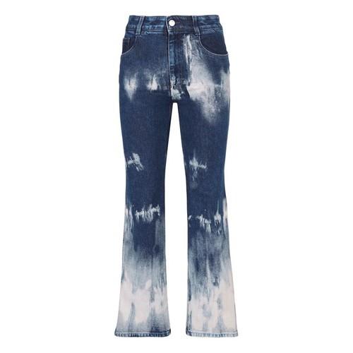 STELLA MCCARTNEY Tie Dye Denim Crop Jeans