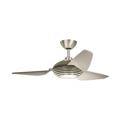 Kichler Lighting Voya Collection 50-inch Brushed Stainless Steel LED Ceiling Fan