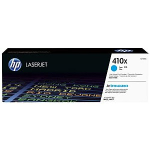 HP 410x Cyan High Yield Original LaserJet Toner Cartridge - Up to 5000 Pages, JetIntelligence, For Color LaserJet Pro HP M452dn, M452dw, M452nw, MFP M477fdn, MFP M477fdw, MFP M477fnw - CF411X