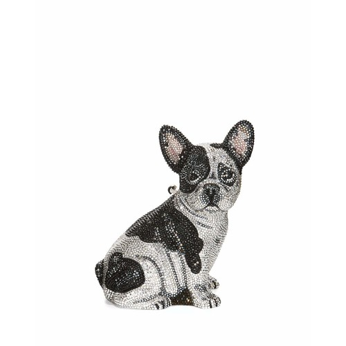 Fred French Bulldog Crystal Clutch Bag, Silver