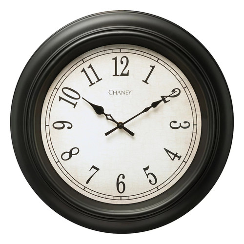 Chaney Black Wall Clock