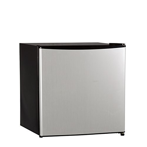Midea WHS-65LSS1 Compact Single Reversible Door Refrigerator, 1.6 Cubic Feet, Stainless Steel