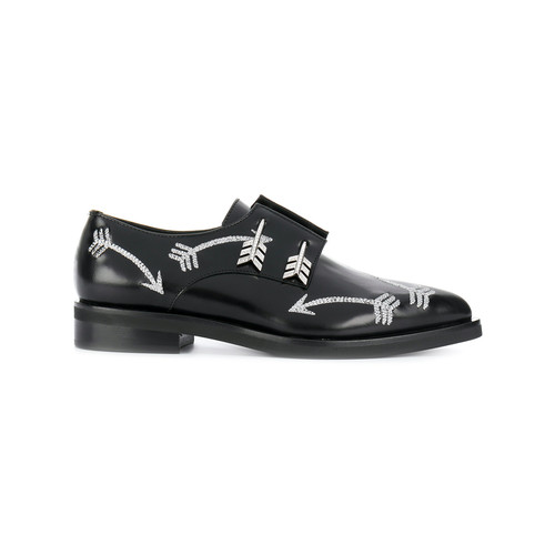 bow and arrow detail loafers