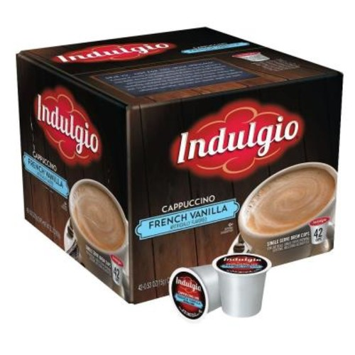 Indulgio French Vanilla Cappuccino (42 Single Serve Cups per Case)