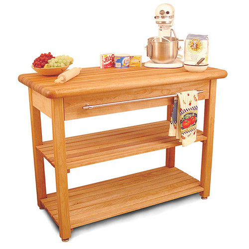 French Country Harvest Butcher Block Table