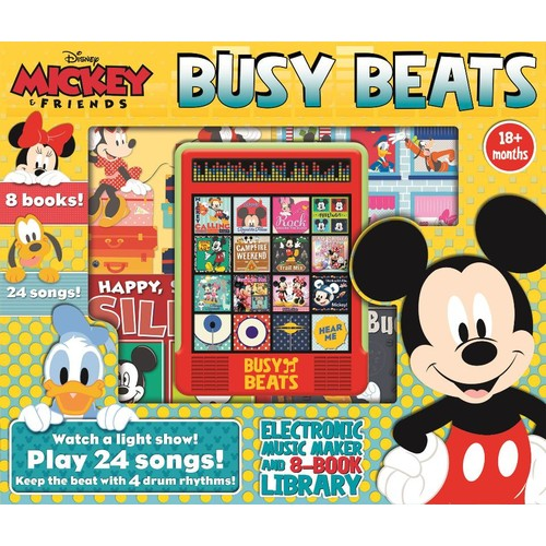 Disney Mickey and Friends 8 Books Busy Beats Library Set