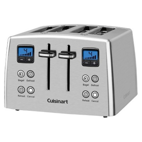 Cuisinart 4 Slice Compact Toaster - Stainless Steel CPT-435