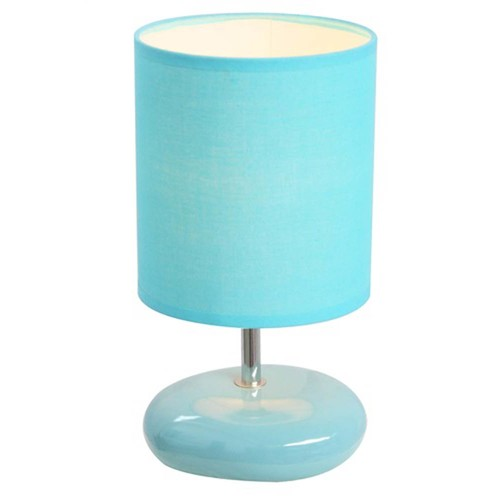Simple Designs Stonies Blue Small Stone Look Table Lamp