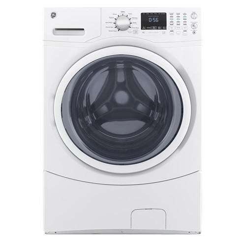 GE 4.5 cu. ft. Stackable White Front Load Washing Machine, ENERGY STAR