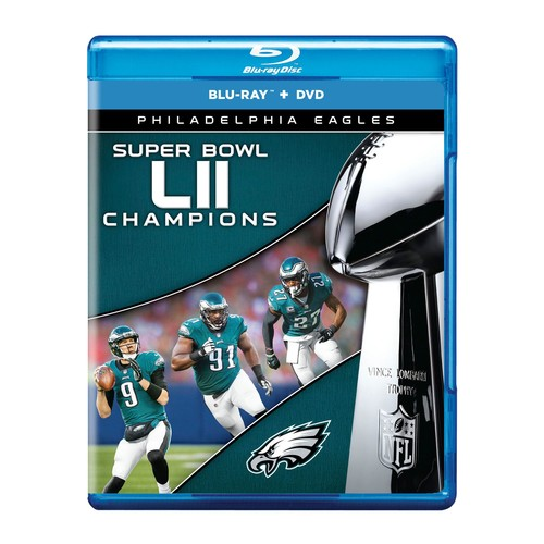 NFL Super Bowl LII Phila. Eagles Blu-ray \u0026 DVD Combo