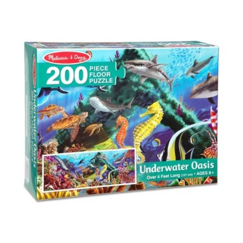 Melissa & Doug Underwater Oasis Jumbo Jigsaw Floor Puzzle (200pc, over 4 feet long)