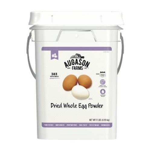 Augason Farms Dried Whole Egg Powder Emergency Food Supply 4-Gallon Pail 383 Servings