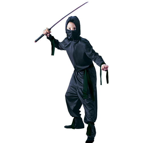 Boys Black Ninja Halloween Costume