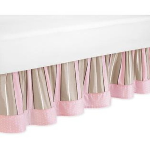 Sweet Jojo Designs Mod Dots Pink Collection Toddler Bed Skirt