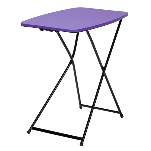 Cosco Home and Office Products 18 x 26u0026#8221; Purple Adjustable Height Personal Folding Tailgate Table , 2 Pack