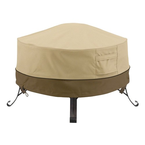 Classic Accessories Veranda Large Round Fire Pit Cover Full Coverage