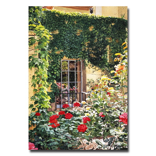 Trademark Global David Lloyd Glover 'Afternoon in the Rose Garden' Canvas Art [Overall Dimensions : 30x47]