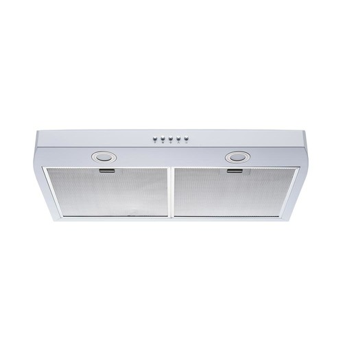 Winflo 30 in. 250 CFM Under Cabinet Range Hood in White Color Steel with Aluminum Filters LED Lights and Push Button Control