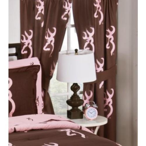 Browning Buckmark Pink/Brown Drapes