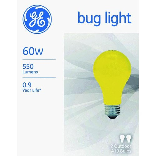 Satco A19 Incandescent Bug Light Bulb - S3938