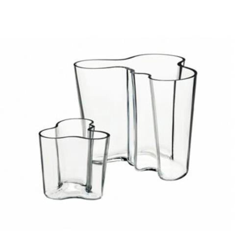 Iittala Alvar Aalto 2-Piece Small Vase Set in Clear