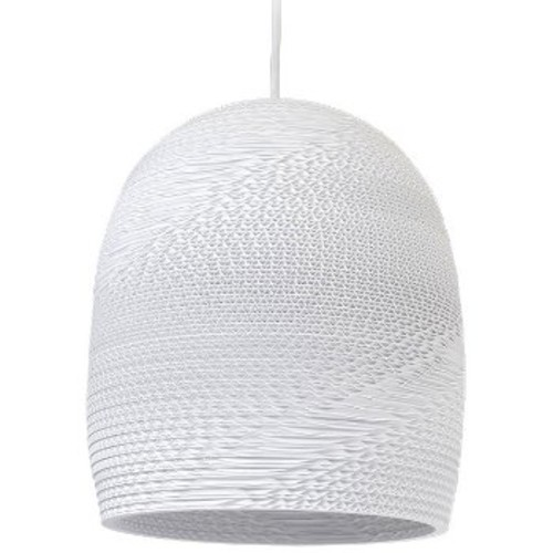 Bell16 Scraplight White Pendant Light [Light Option : E26 Medium Base]