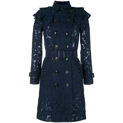 BURBERRY Embroidered Double Breasted Coat