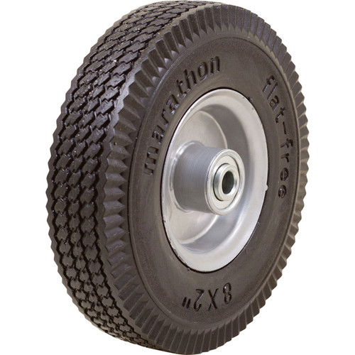 Marathon Tires Flat-Free Hand Truck Tire  1/2in. Bore, 8 x 2in.