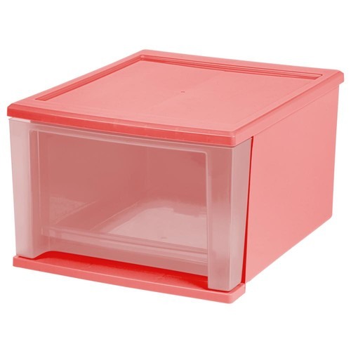 IRIS 12.05 in. x 8.3917 in. Quart Pink Stacking Drawer (4-Pack)