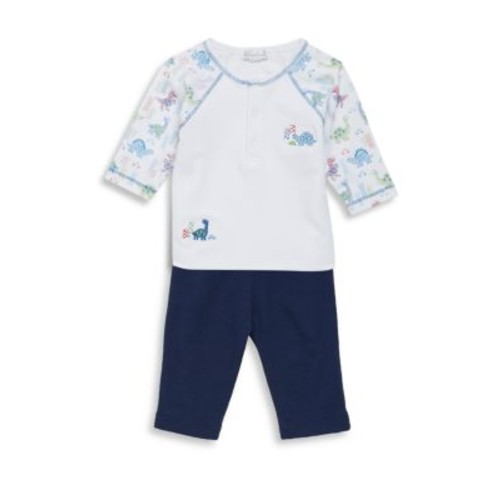 Baby's Two-Piece Downtown Dino Cotton Top and Pants Set