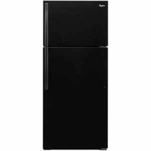 Whirlpool 14 cu ft 28 Wide Top Freezer Refrigerator with Freezer Temperature Control - Black