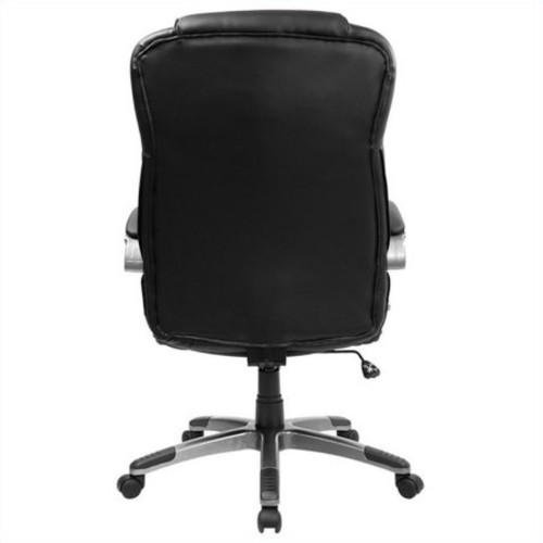 Flash Furniture High Back Black Leather Executive Swivel Chair with Arms [Black]