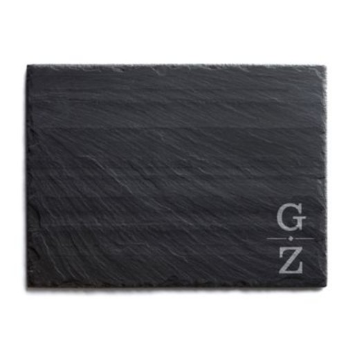 Our Initials Traditional Slate Cheese Board