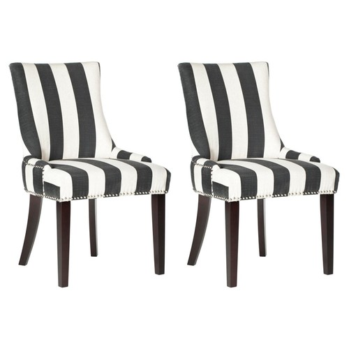 Charcoal Lester Chairs, Pair