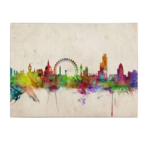 Trademark Fine Art Michael Tompsett 'London Skyline' Canvas Art 16x24 Inches
