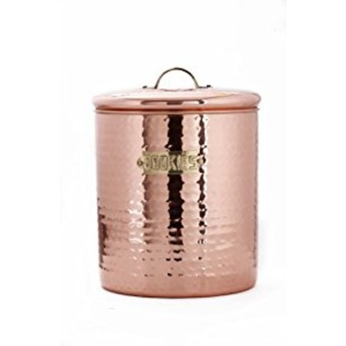 Hammered Dcor Copper Cookie Jar, 4 Qt. [Cookie Jar]