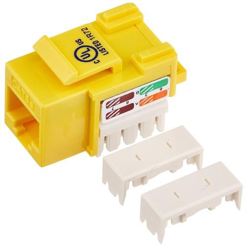 Monoprice Cat5E Punch Down Keystone Jack, Yellow (105377)