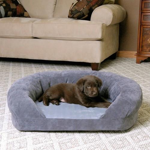 K&H Pet Products Ortho Bolster Sleeper Orthopedic Dog Bed [Gray, Standard Packaging, Medium]