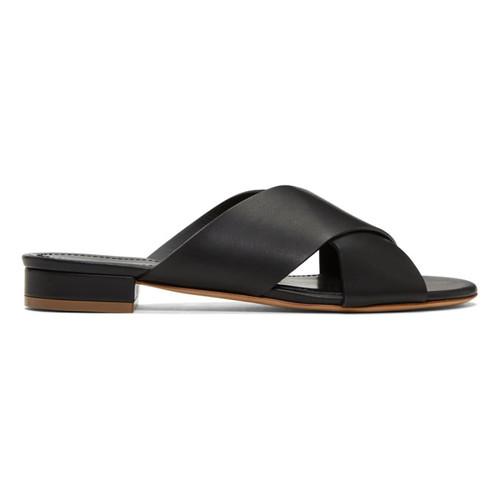 MANSUR GAVRIEL Black Flat Crossover Sandals