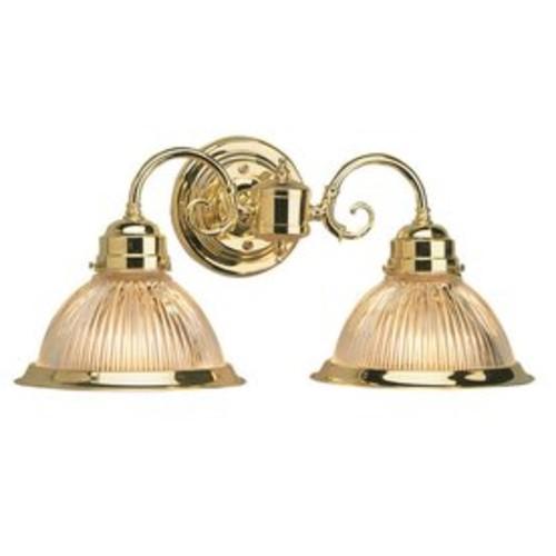 Design House Millbridge 2-Light 8.3-in Polished brass Bell Vanity Light