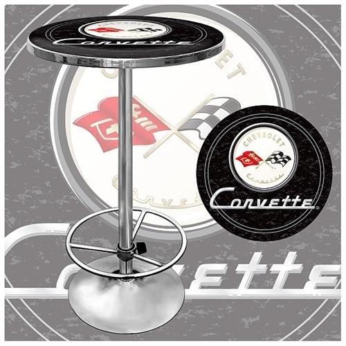 Trademark Global Corvette C1 Pub Table - Black