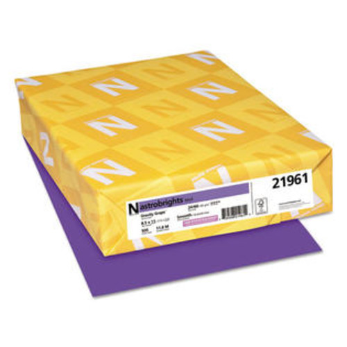 Neenah Paper (Price/RM)Neenah Paper WAU21961 Astrobrights Colored Paper, 24lb, 8-1/2 x 11, Gravity Grape, 500 Sheets/Ream