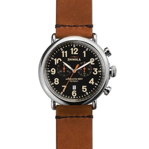 The Runwell Chronograph Tan Strap Watch, 47mm