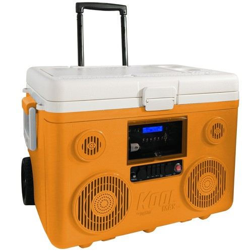 KoolMAX CA-E065 40-Quart Wheeled Cooler Bluetooth PA System and Charging Station