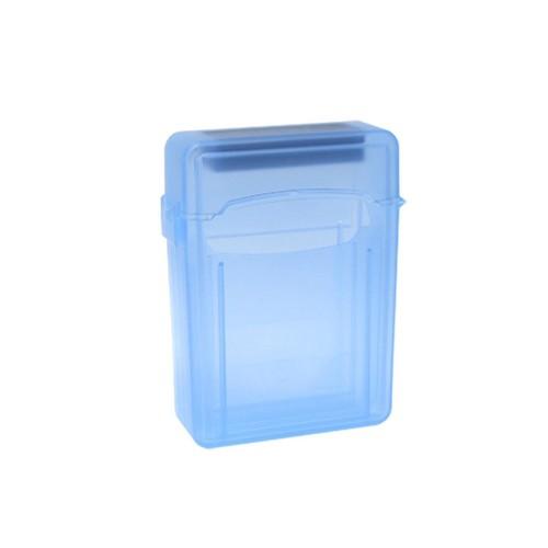 Unique Bargains Plastic Blue 2.5 Inch SATA IDE Hard Drive Case HDD Storage Box