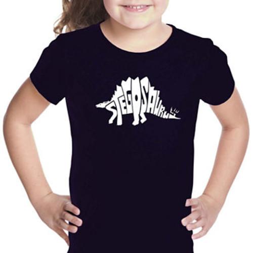 Los Angeles Pop Art Stegosaurus Short Sleeve GirlsGraphic T-Shirt