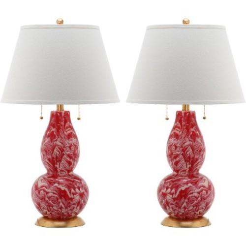 Color Swirls Glass Table Lamp Set - Safavieh