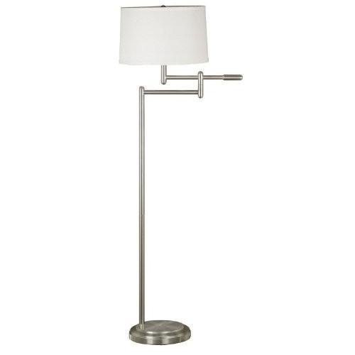 Kenroy Home 20941BS Theta Swing Arm Floor Lamp, Brushed Steel [Brushed Steel Finish]